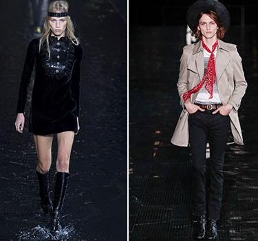 Designer Saint Laurent Men and Women's Collection