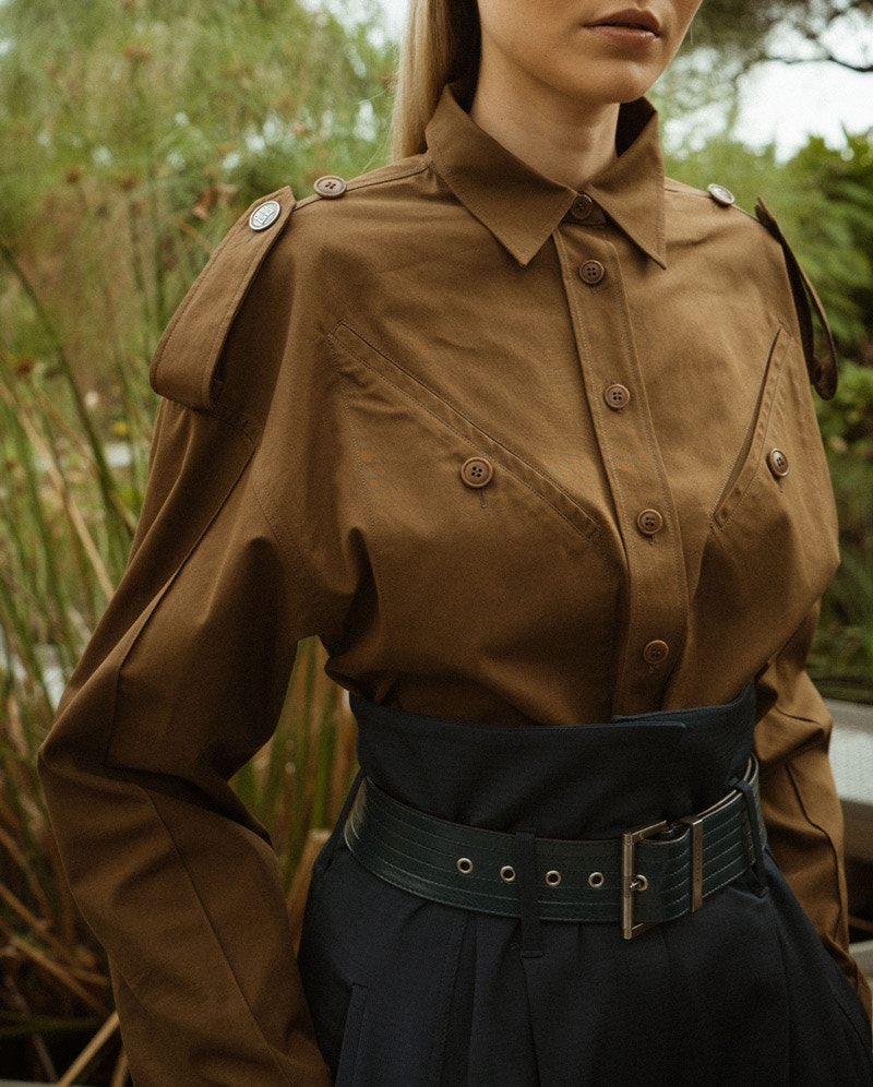 GIVENCHY Utilitarian Shirt, GIVENCHY High-Waisted Balloon Trousers