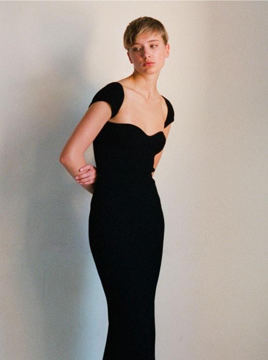 black maxi dress from khaite
