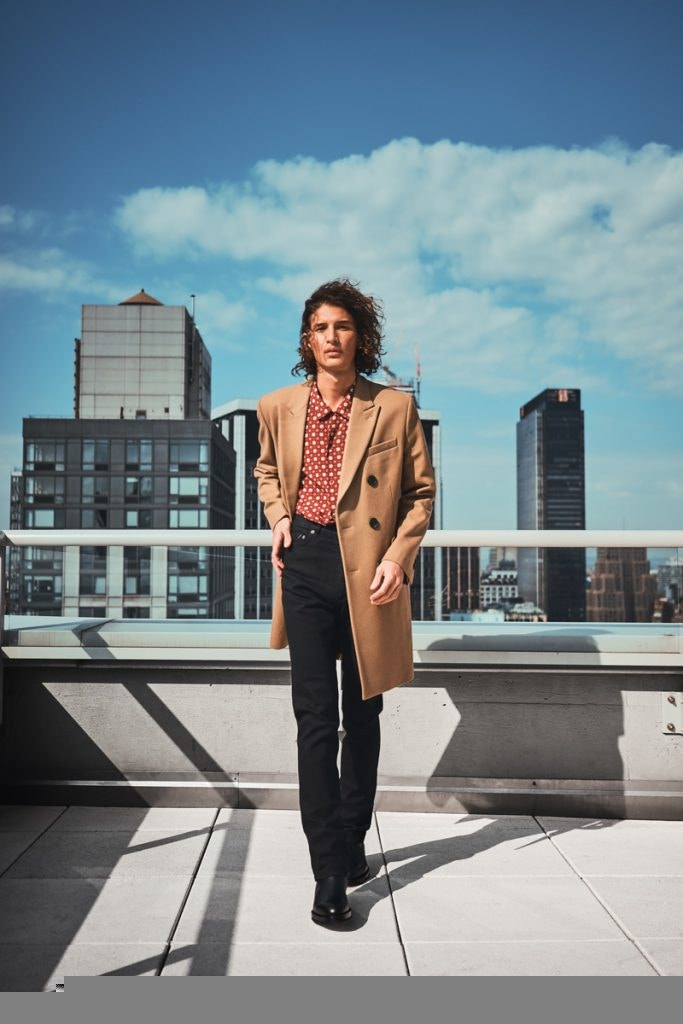 AMI ALEXANDRE MATTIUSSI Double Breasted Coat, SAINT LAURENT Shirt