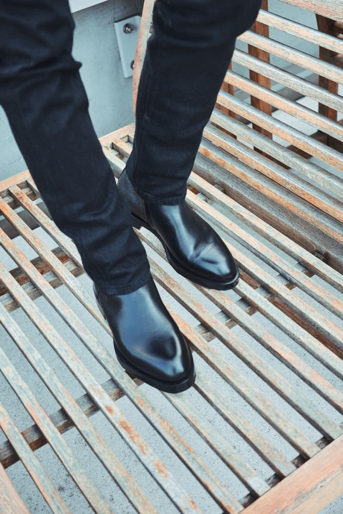PIERRE HARDY Radical Ankle Boots, THE ROW Bryan Jean