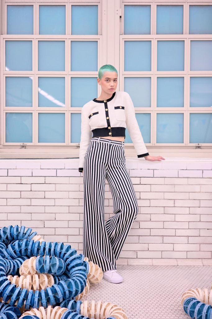 CHANEL Cardigan, CHANEL Striped Pants