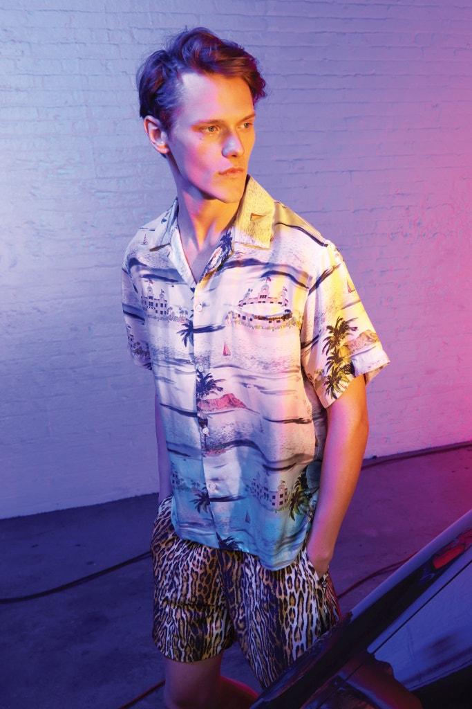 AMIRI Beverly Hills Tropicla Shirt and Leopard Shorts