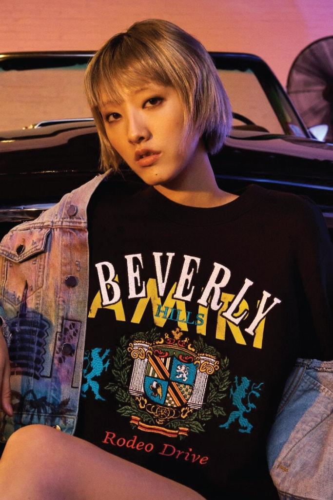 AMIRI Beverly Hills Crewneck, AMIRI Airbrush Hollywood Trucker Jacket