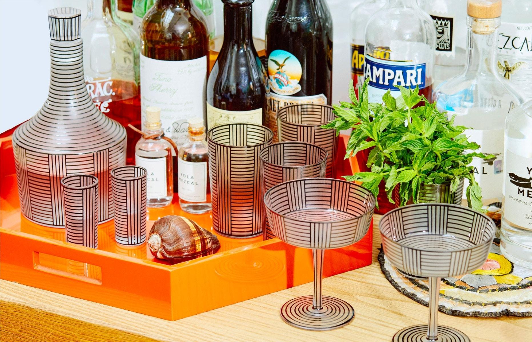JOSEF HOFFMANN Serie B Wine Decanter – Serie B Champagne Glass – Serie B Liqueur Tumbler – Serie B Water Tumbler