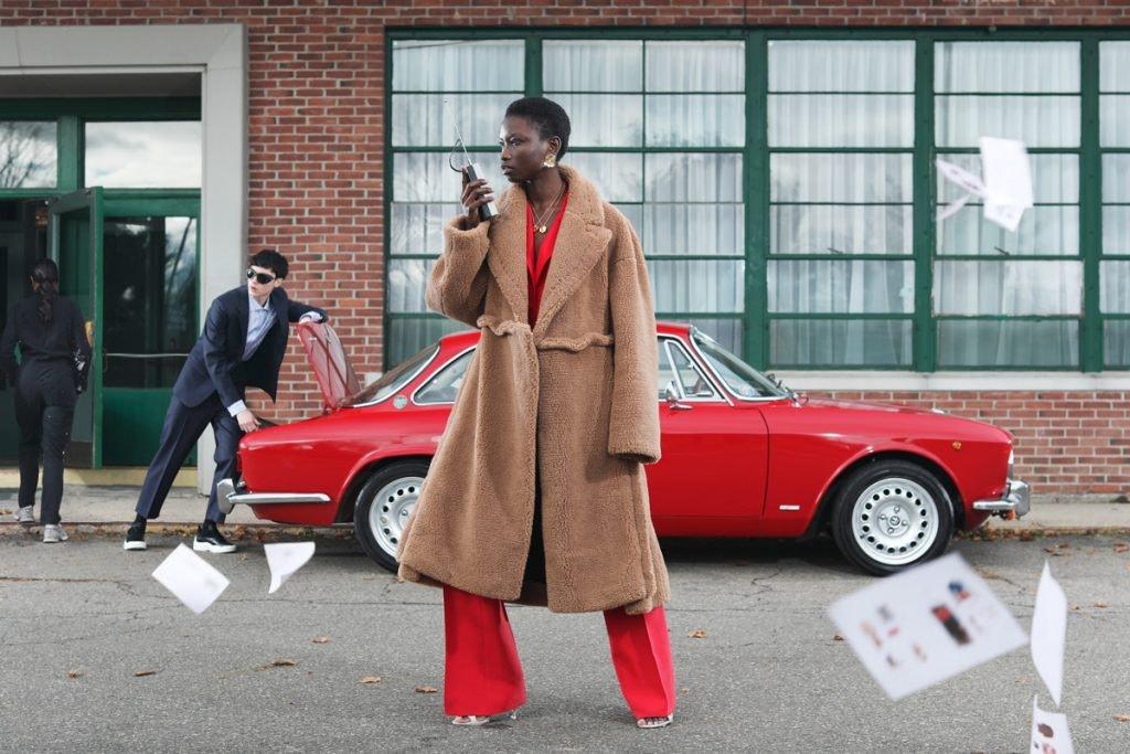 OFF-WHITE Oversized Camel Hair Coat, VALENTINO Classic Blazer, MARNI Checked Suit Jacket, MARNI Checked Suit Trousers, VALENTINO Low-Top Sneakers