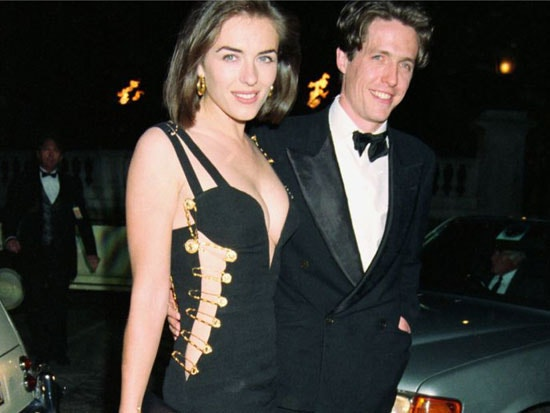 Elizabeth Hurley in Versace Safety Pin Dress