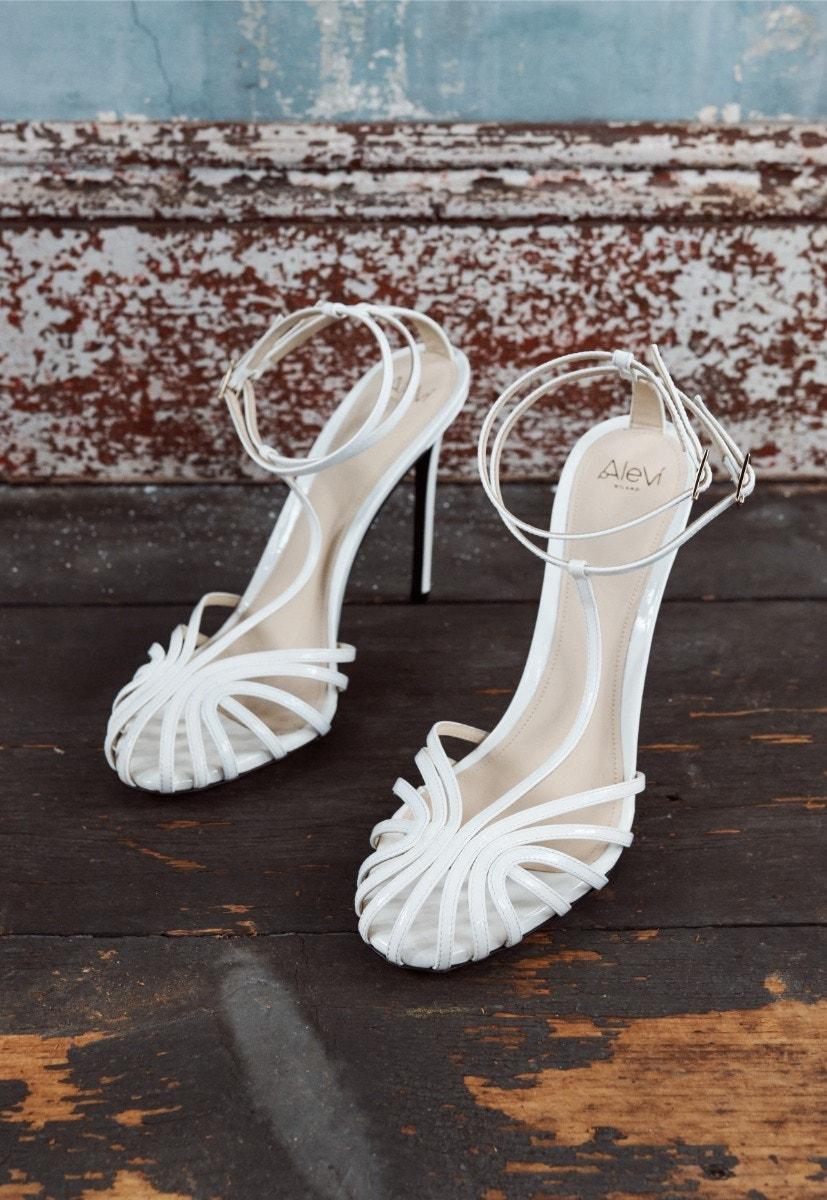 Alevi Stella Sandals White