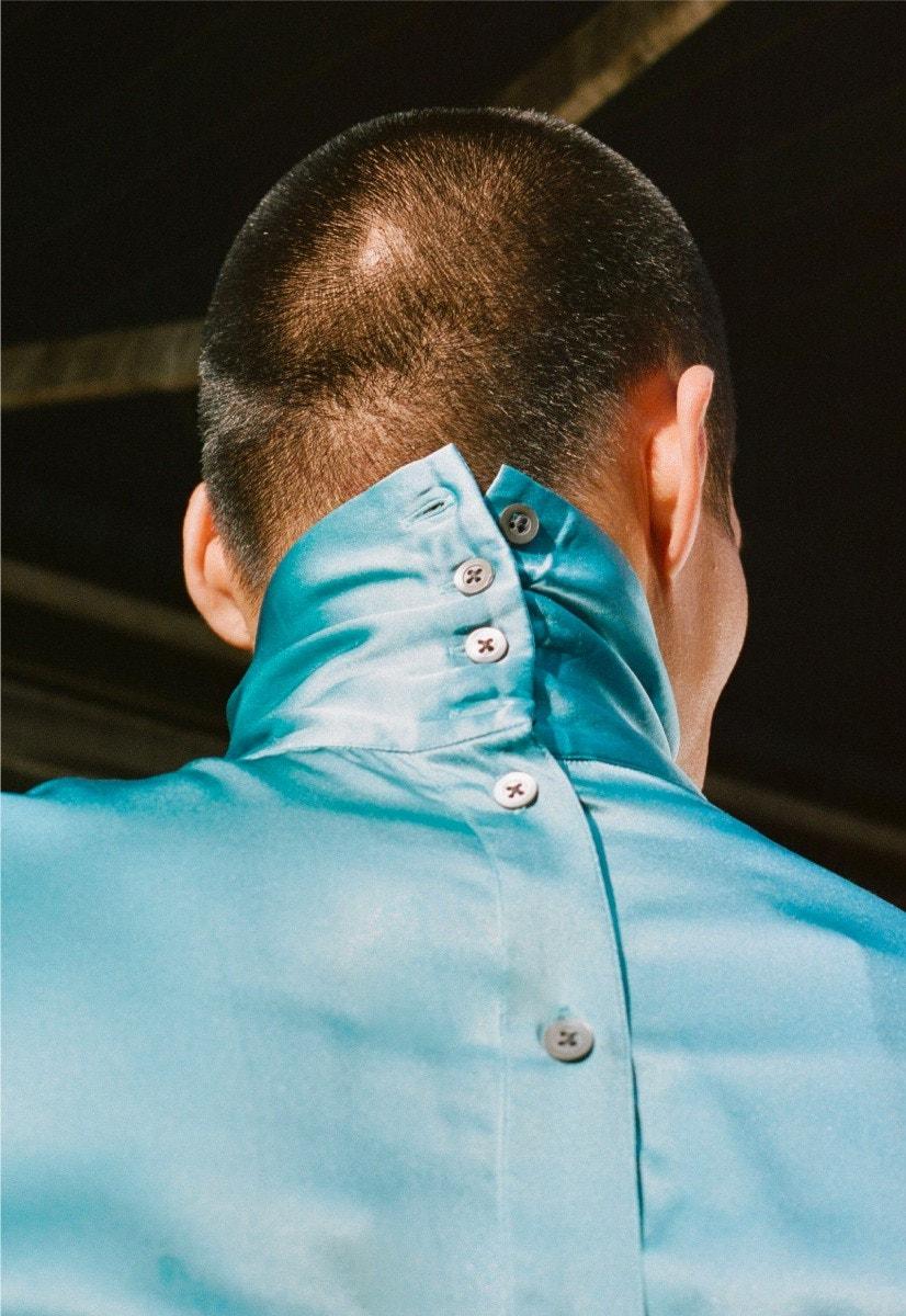 NEIL BARRETT Jacket and Trousers – DRIES VAN NOTEN Shirt