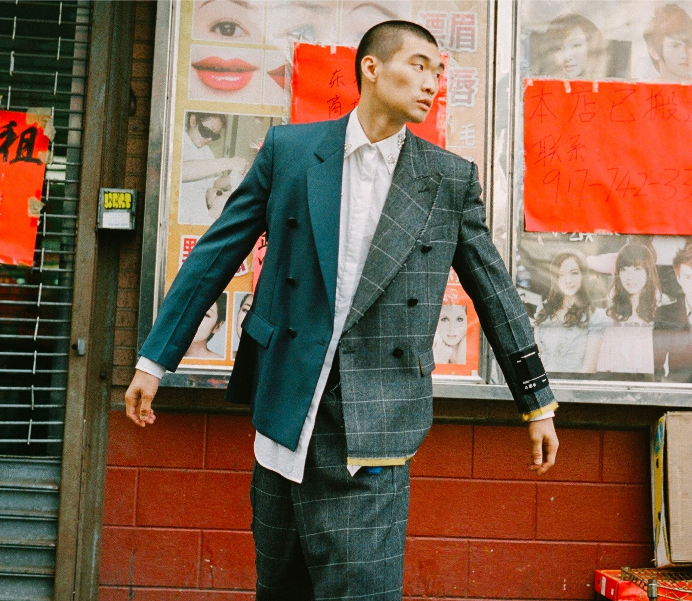 OFF-WHITE Jacket and Trousers – AREA Shirt