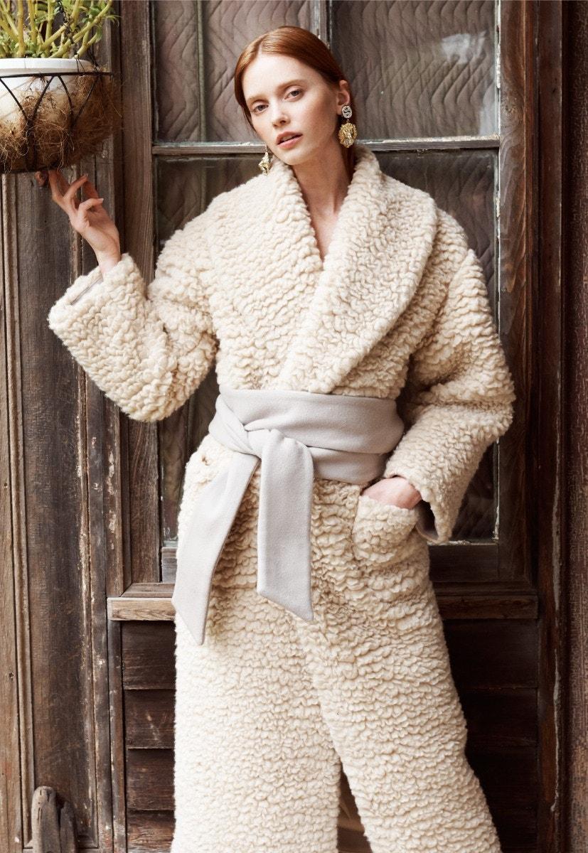 SALVATORE FERRAGAMO Fleece Cashmere-Blend Coat