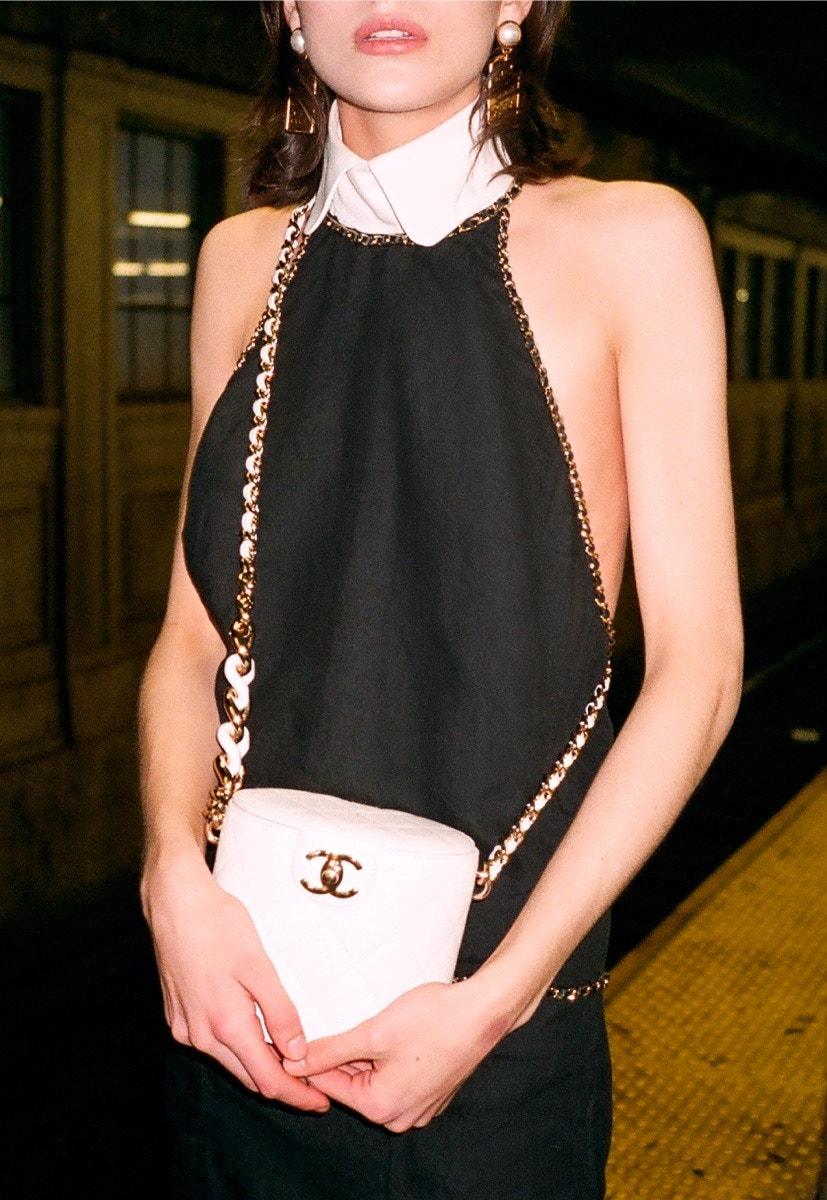 CHANEL Jacket – Skirt – Ankle Boots Dress – Vanity Case – Earrings
