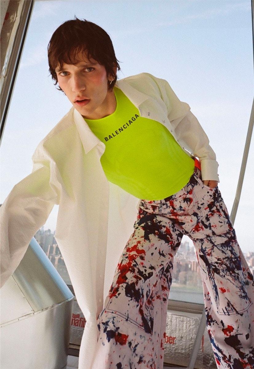MARQUES'ALMEIDA Shirt – BALENCIAGA Shirt – S.R. STUDIO LA. CA. Pant – CHARLOTTE CHESNAIS Ring