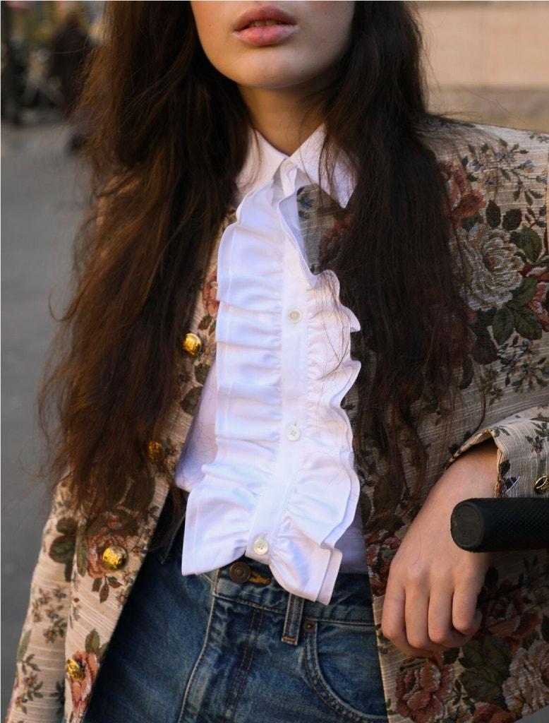 model wearing full celine