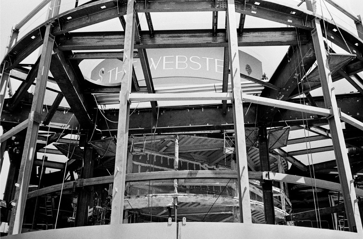 the webster la building under construction