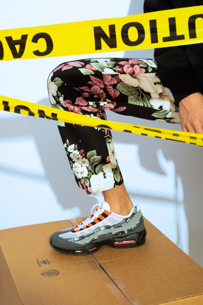 PALM ANGELS Horsepower Hoodie, FEAR OF GOD Floral Trousers, NIKE Airmax 95 Sneakers
